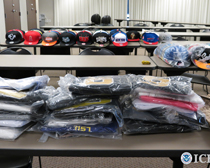 64b853ef33d ... 800 Counterfeit Sports Team Hats and Jerseys. Customs IP Enforcement.  Photo by ICE